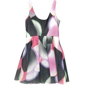 Milly A-line Dress Mesh Scoop Neck Pink New NWT